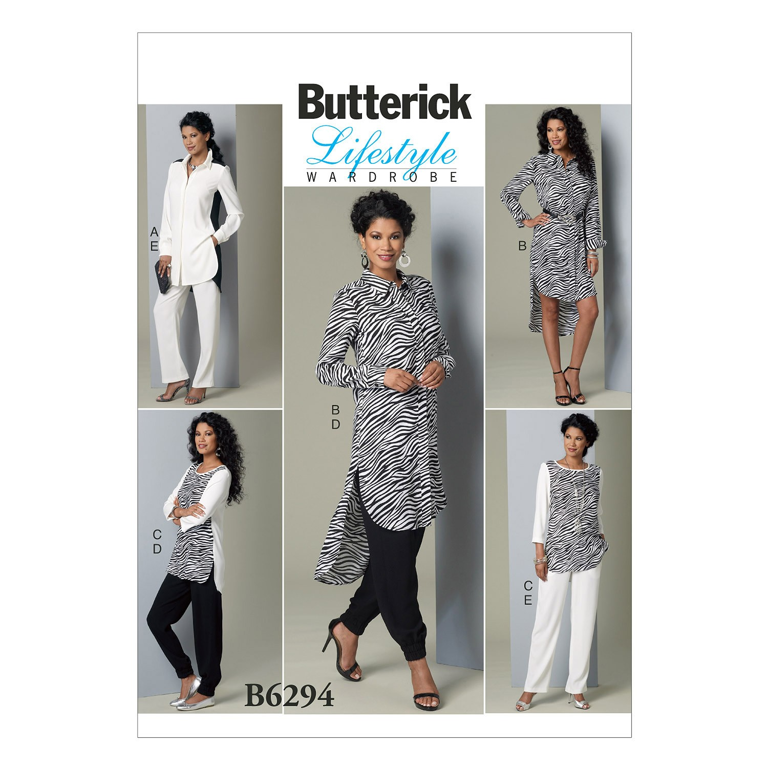 Butterick Sewing Pattern 6294 Misses' Tunic & Trousers