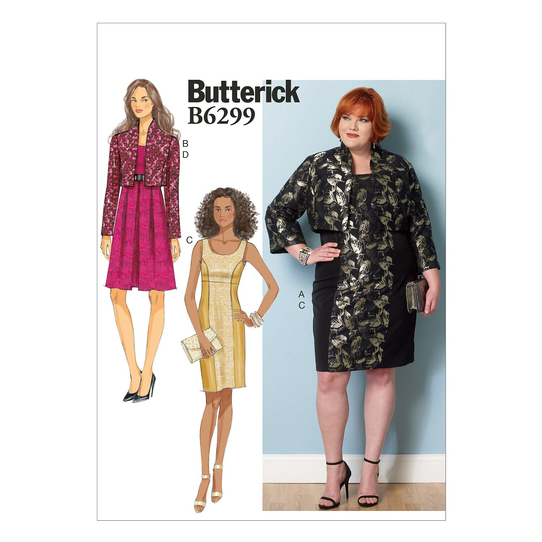 Butterick Sewing Pattern 6299 Misses' Evening Jacket Coat & Dress