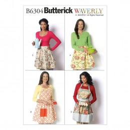 Butterick Sewing Pattern 6304 Misses' Aprons