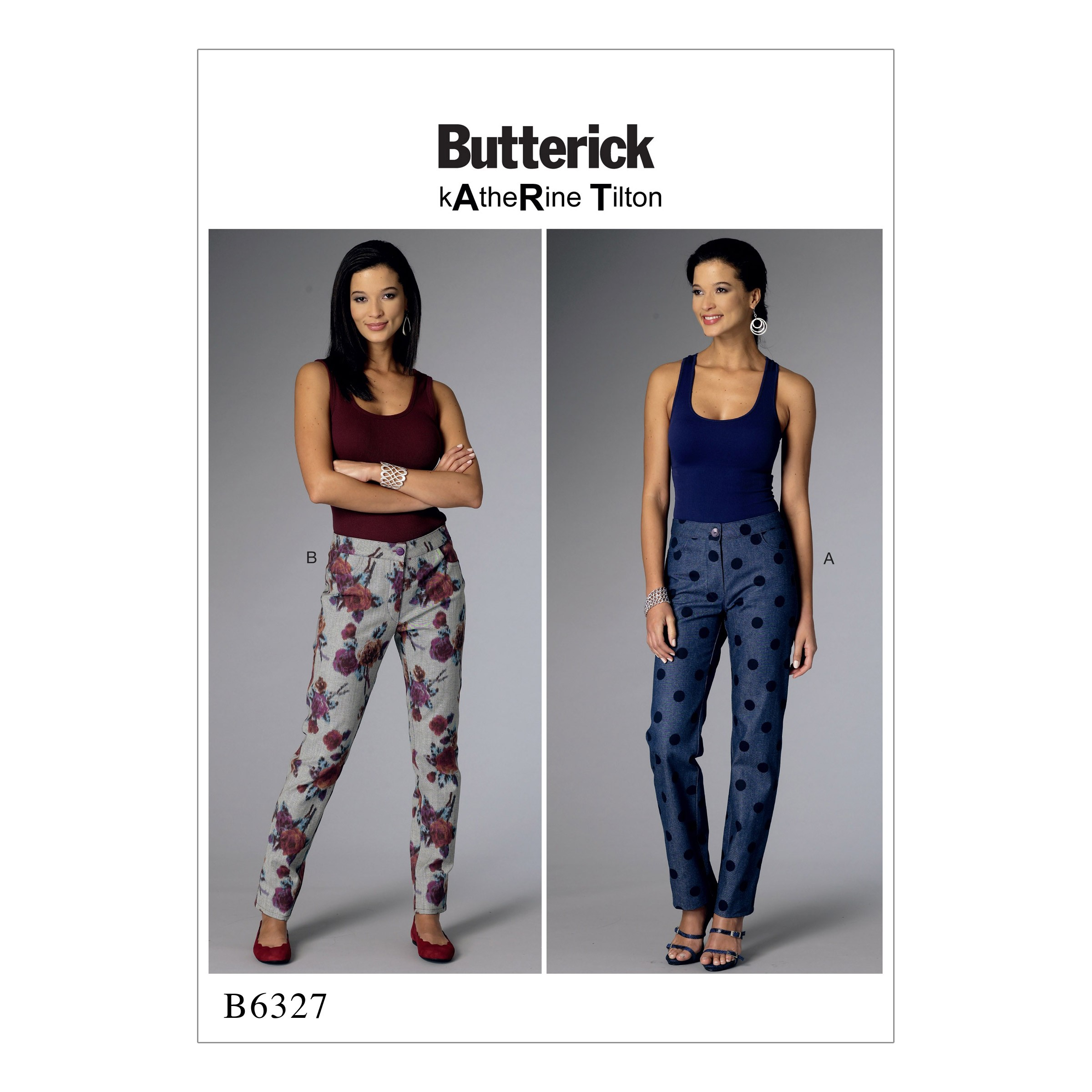 Butterick Sewing Pattern 6327 Misses' Tapered Semi Fitted Trousers