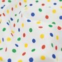 8mm Polycotton Fabric Polka Dots Spots Dotty Multi Craft Dress