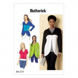 Butterick Sewing Pattern 6329 Misses' Curved Seam or Cropped Jackets Coat