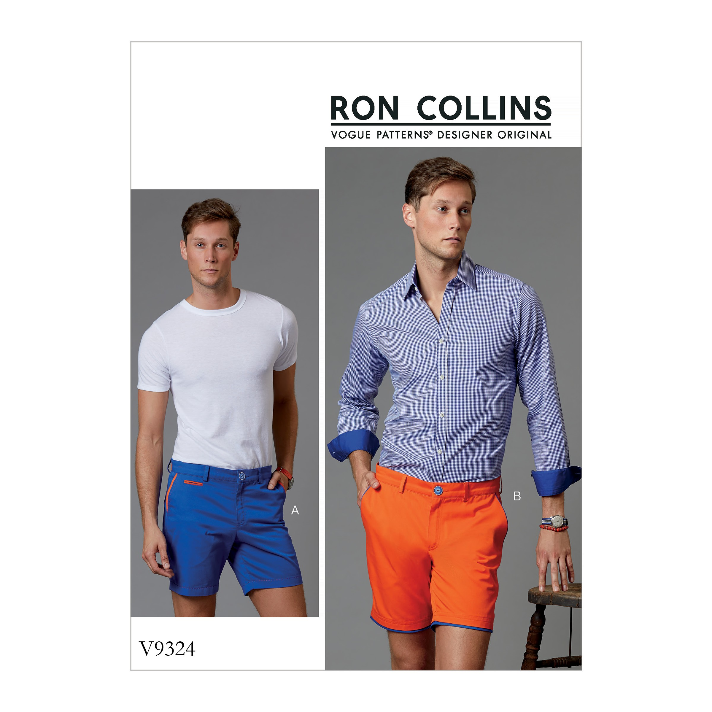 Vogue Sewing Pattern V9324 Men's Summer Shorts