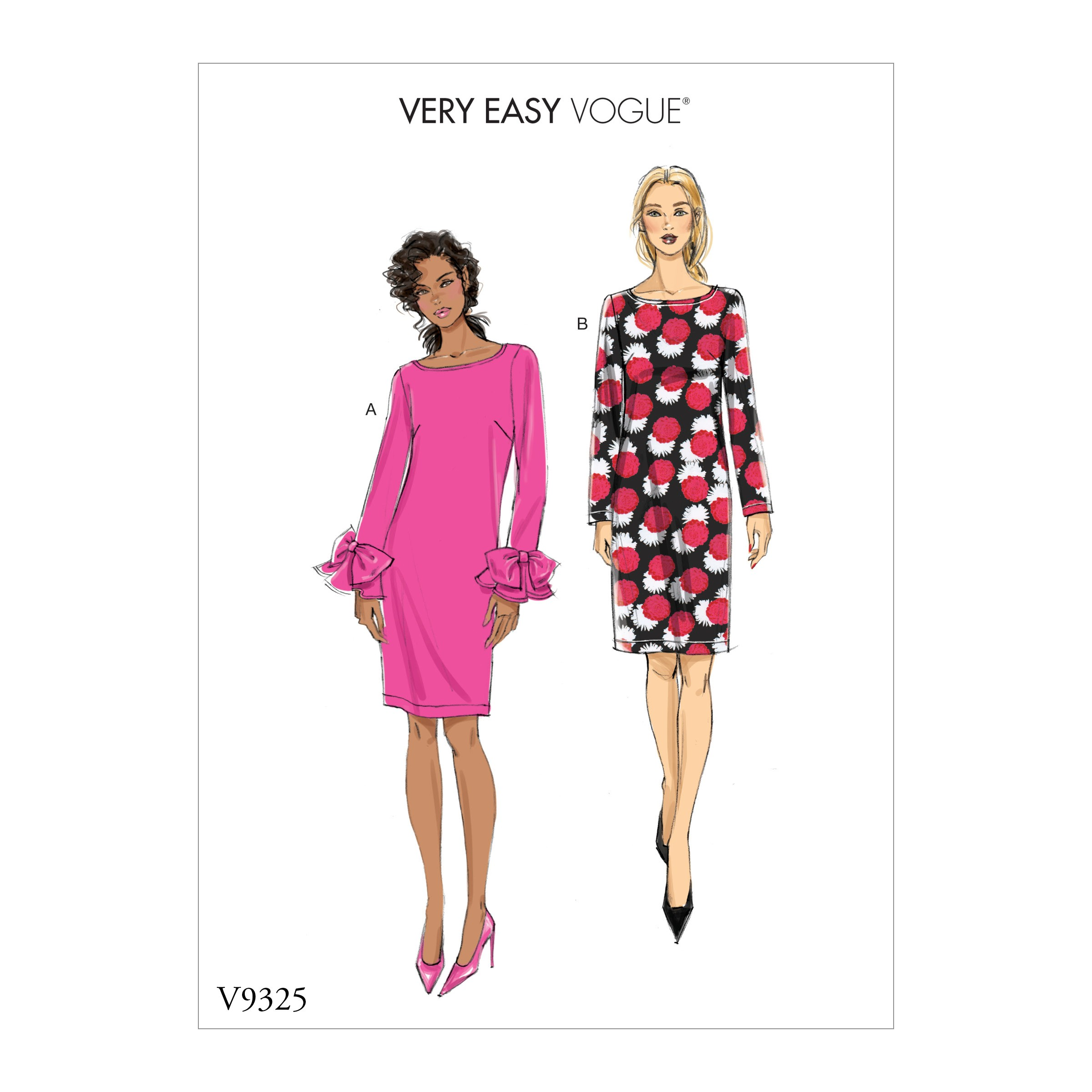 Vogue Sewing Pattern V9325 Misses' Dress Women's Fitted Lined Dresses