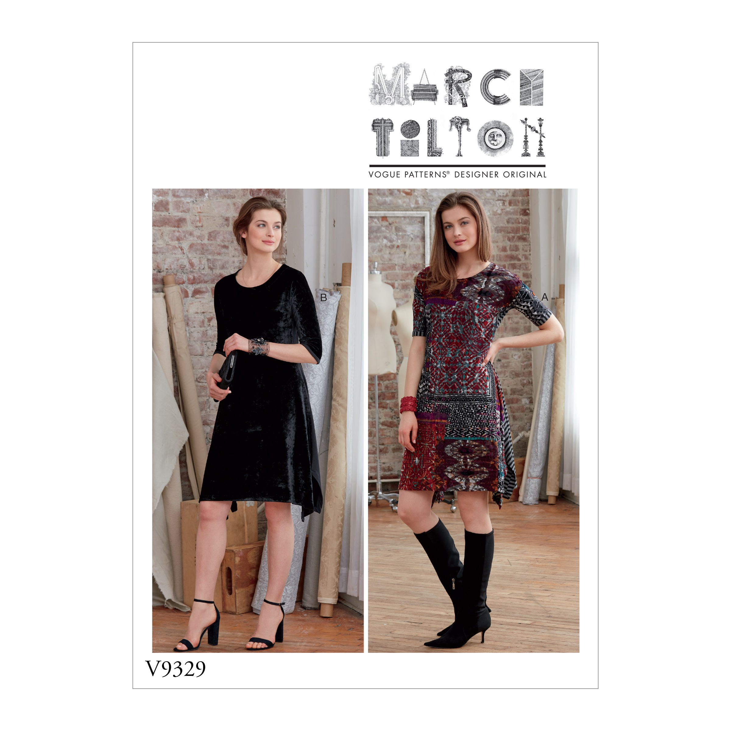 Vogue Sewing Pattern V9329 Misses' Pull Over Dress Women's Dresses