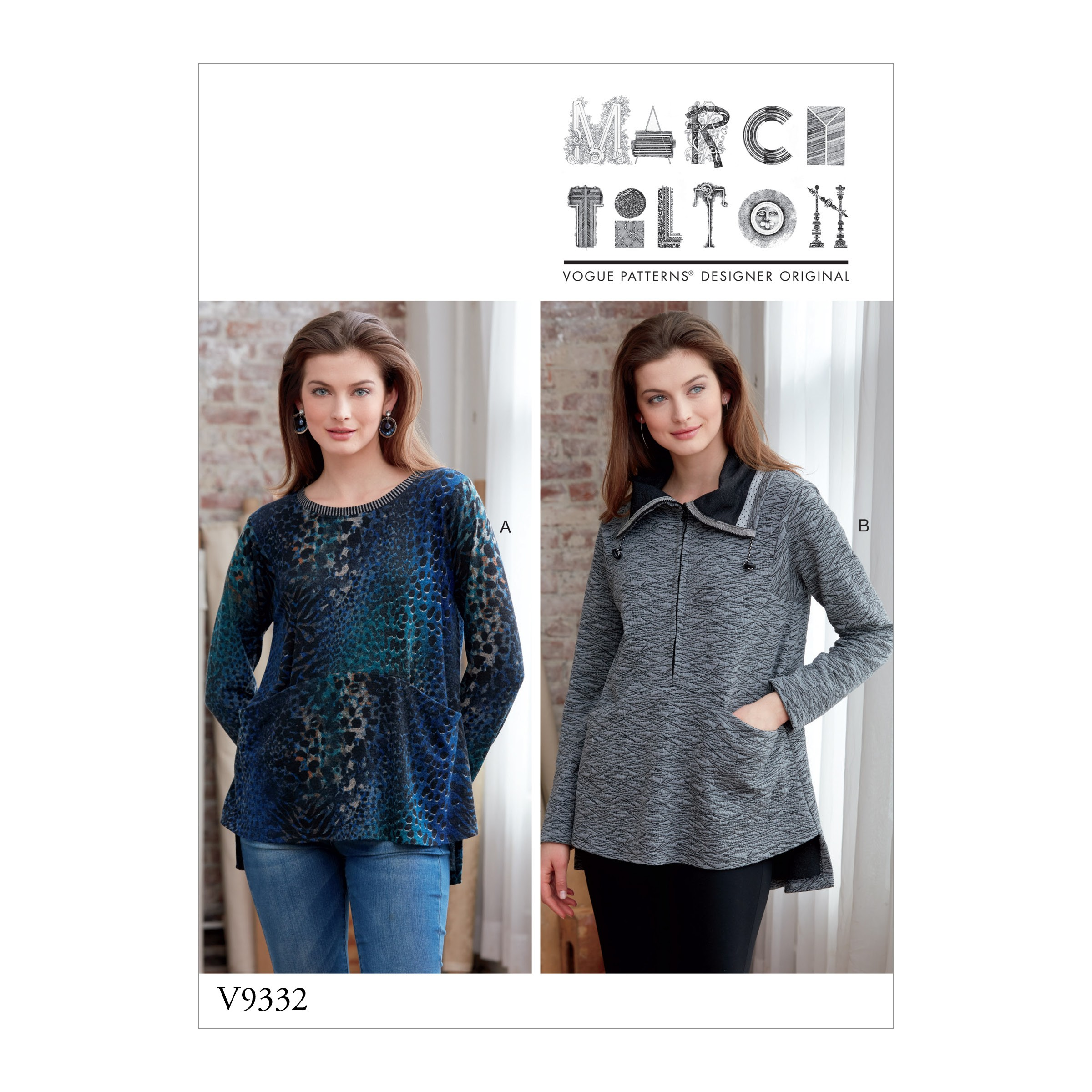 Vogue Sewing Pattern V9332 Women's Top Jacket With Front Pockets