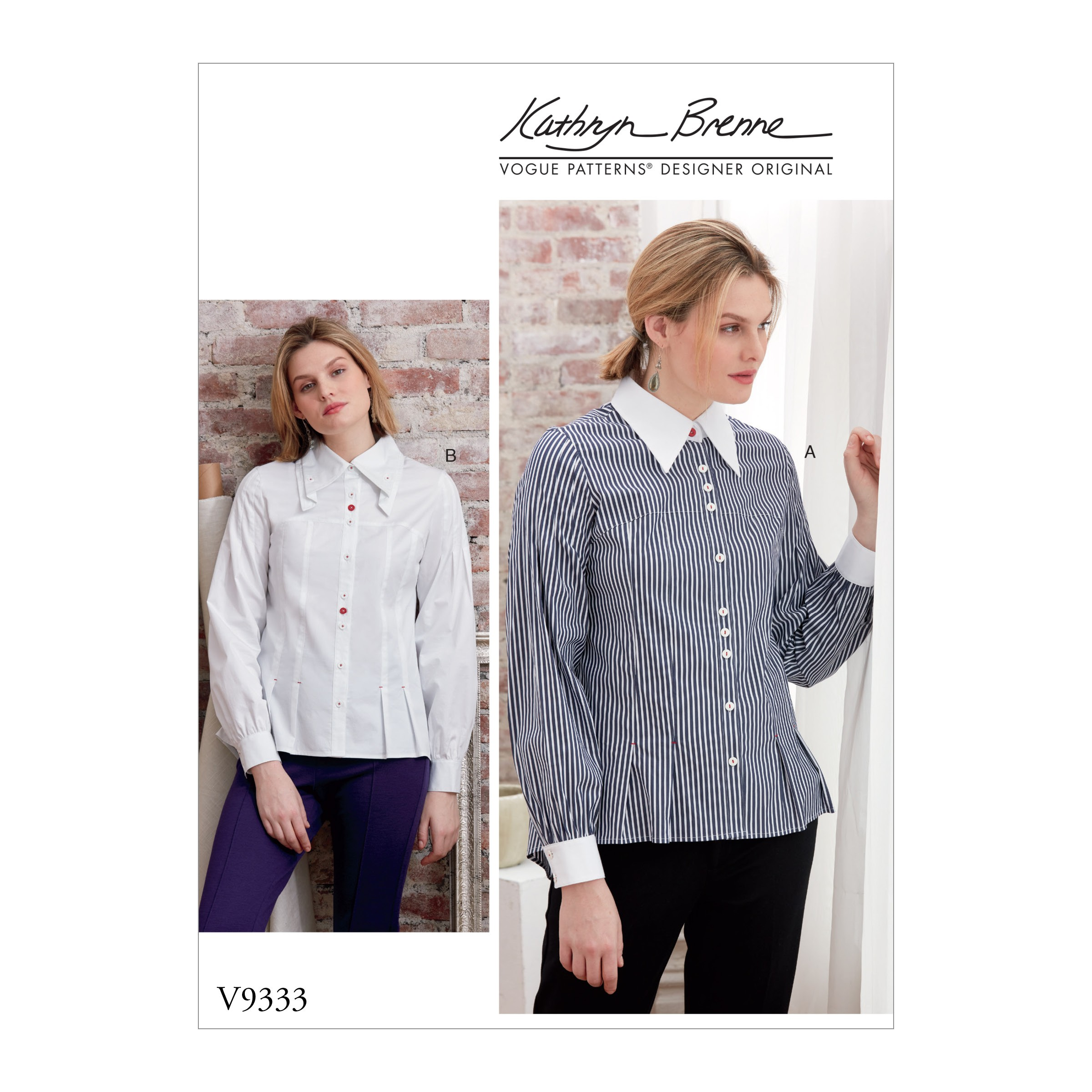 Vogue Sewing Pattern V9333 Women's Shirt Buttoned Back