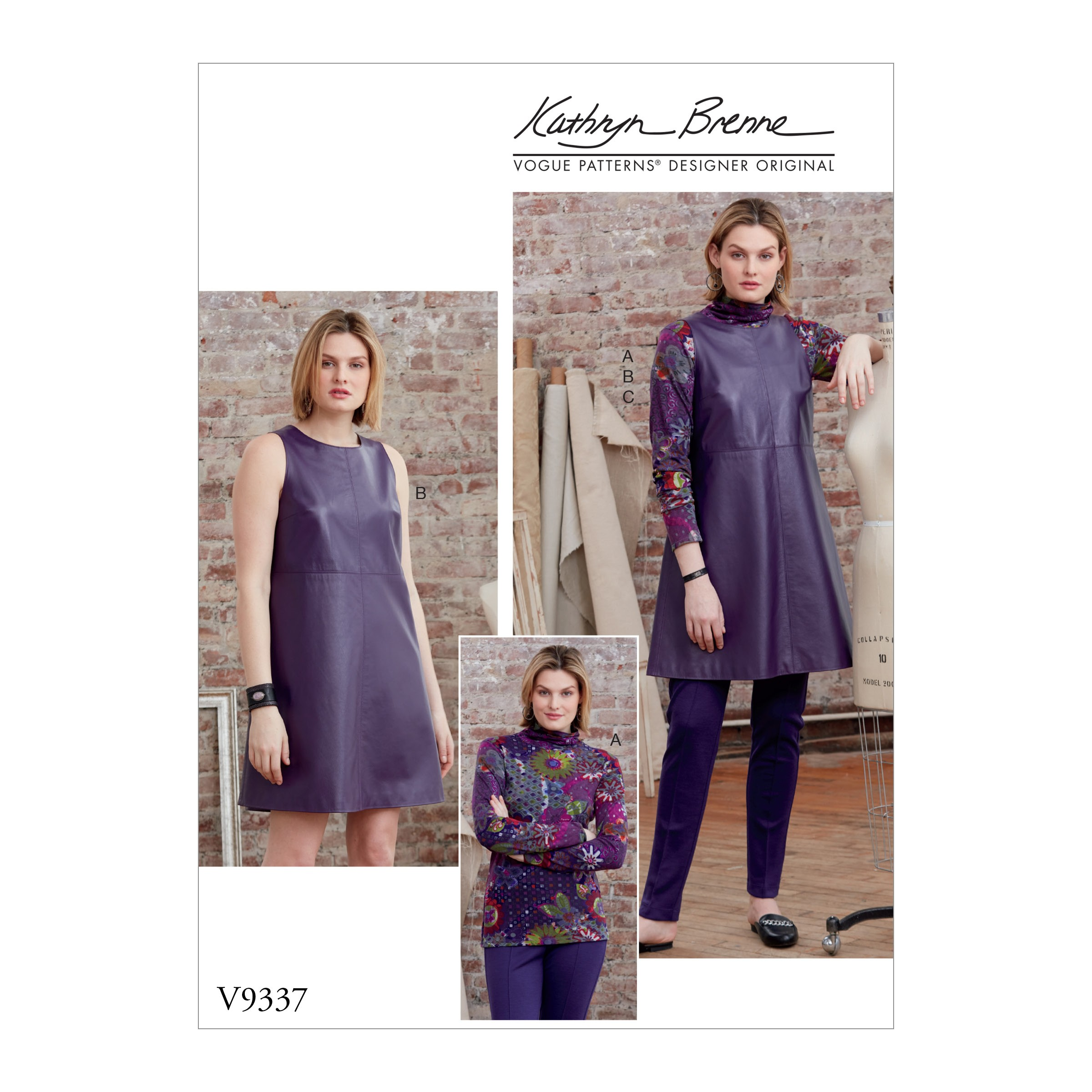 Vogue Sewing Pattern V9337 Women's Top Tunic And Trousers