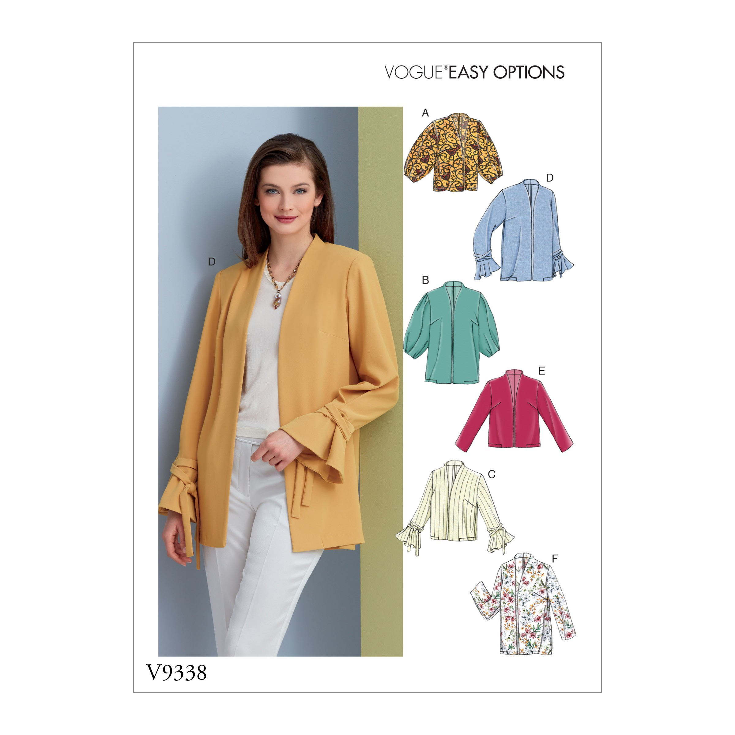 Vogue Sewing Pattern V9338 Women's Lightweight Jacket Blazer