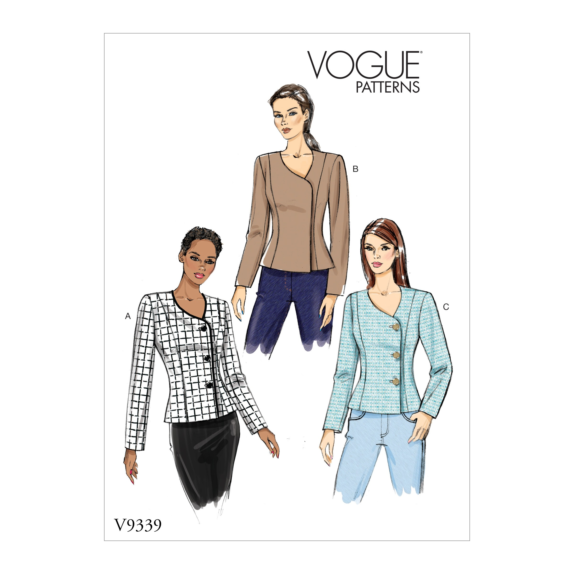 Vogue Sewing Pattern V9339 Women's Fitted Jacket