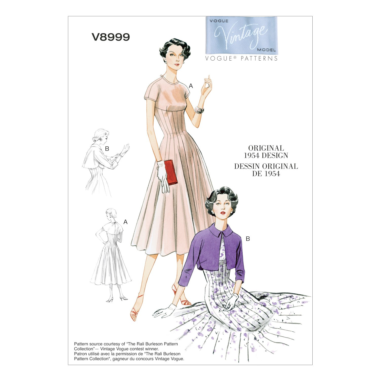 Vogue Sewing Pattern V8999 Women's Vintage Dress And Bolero
