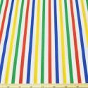 8mm Polycotton Fabric Stripes Rainbow Lines Candy Stripe Multi