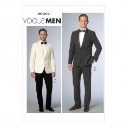 Vogue Sewing Pattern V9097 Men's Suit Jacket And Trousers