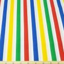 16mm Polycotton Fabric Stripes Rainbow Lines Candy Stripe Multi