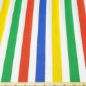 26mm Polycotton Fabric Stripes Rainbow Lines Candy Stripe Multi