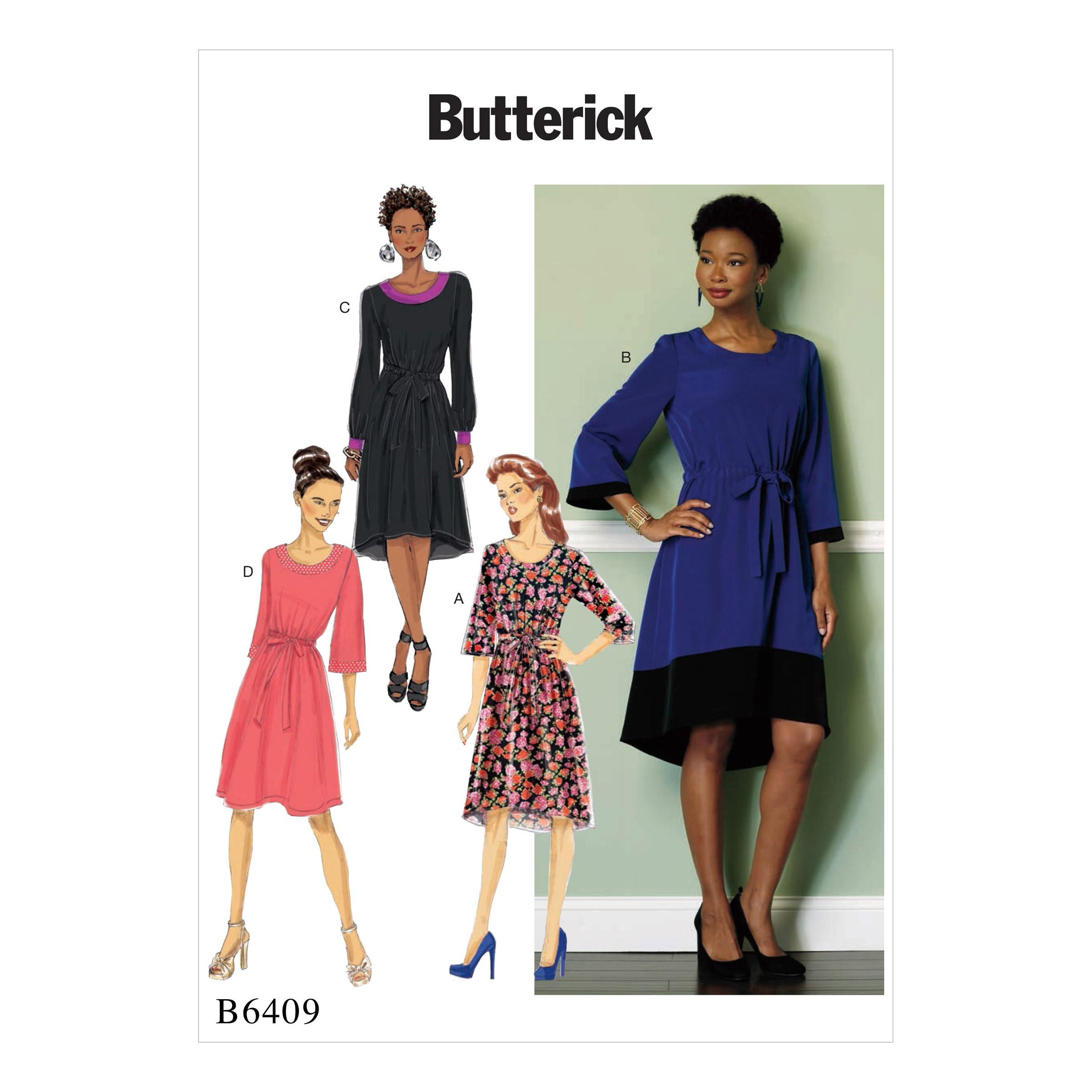 Butterick Sewing Pattern 6410 Misses' Petite Paneled Dress With Yoke