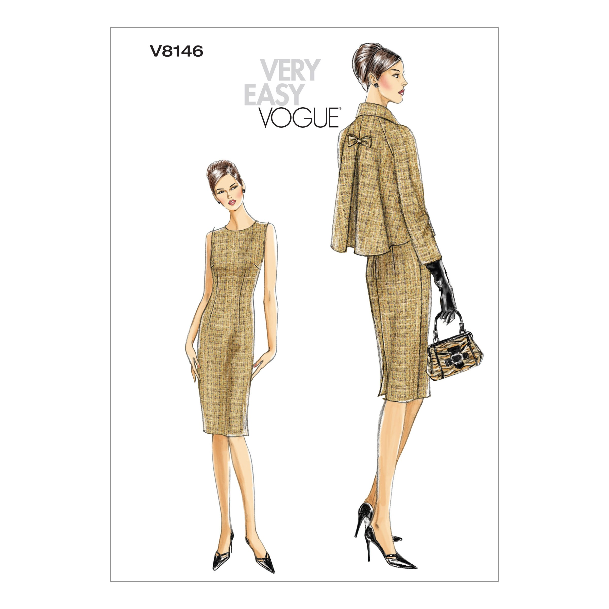 Vogue Sewing Pattern V8146 Women's Petite Jacket And Dress