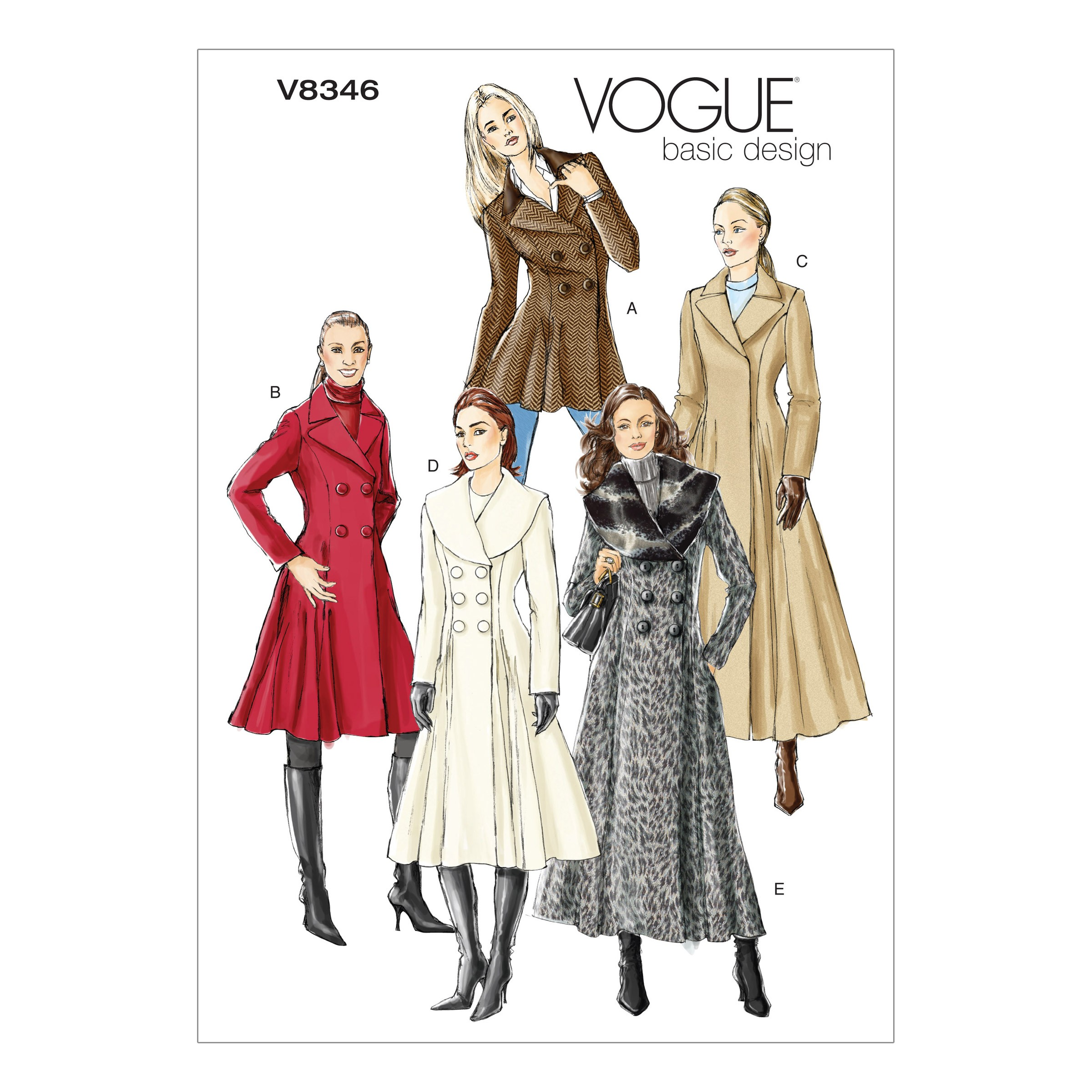 Vogue Sewing Pattern V8346 Women's Fitted Coat