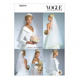 Vogue Sewing Pattern V8374 Women's Bridal Veil Special Occasion Wedding