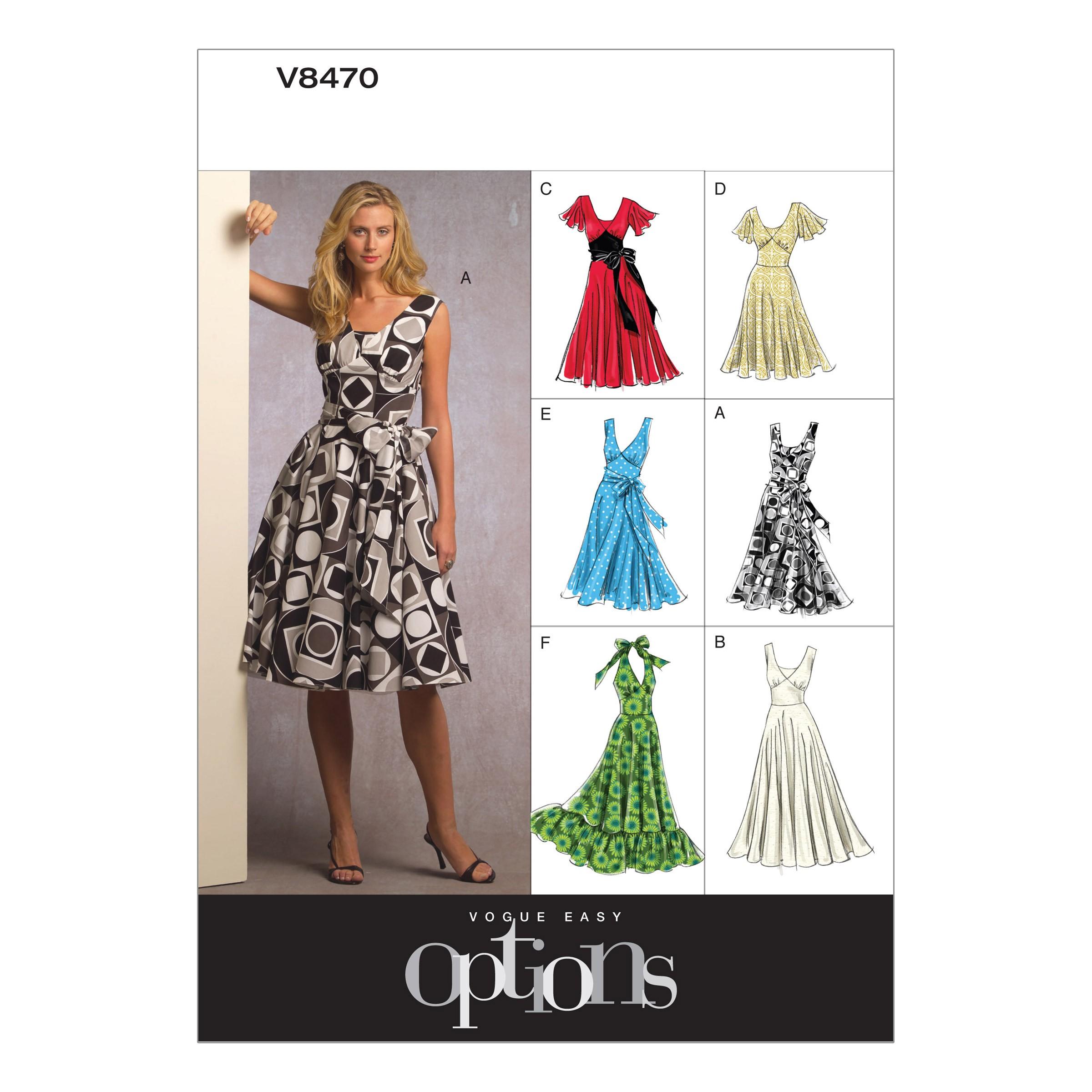 Vogue Sewing Pattern V8470 Women's Dress