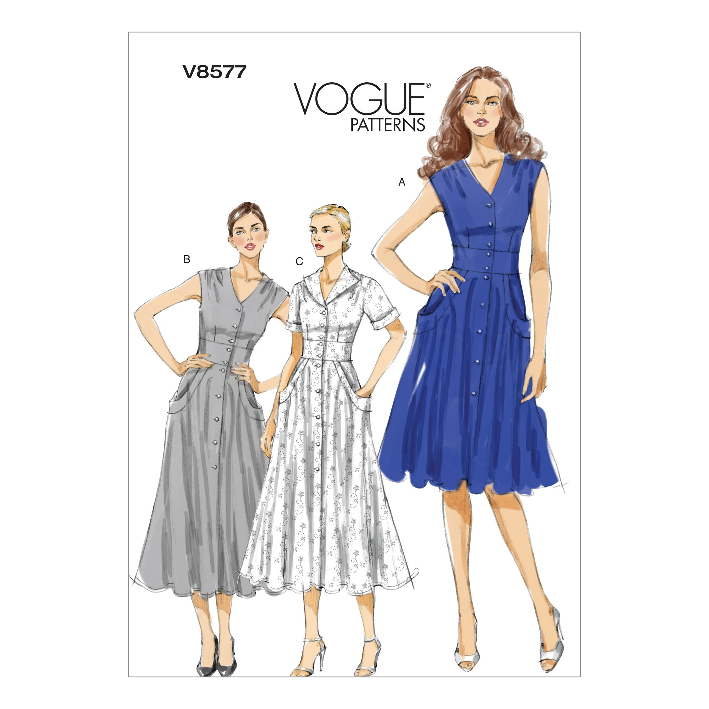 Vogue Sewing Pattern V8577 Women's Casual Dress