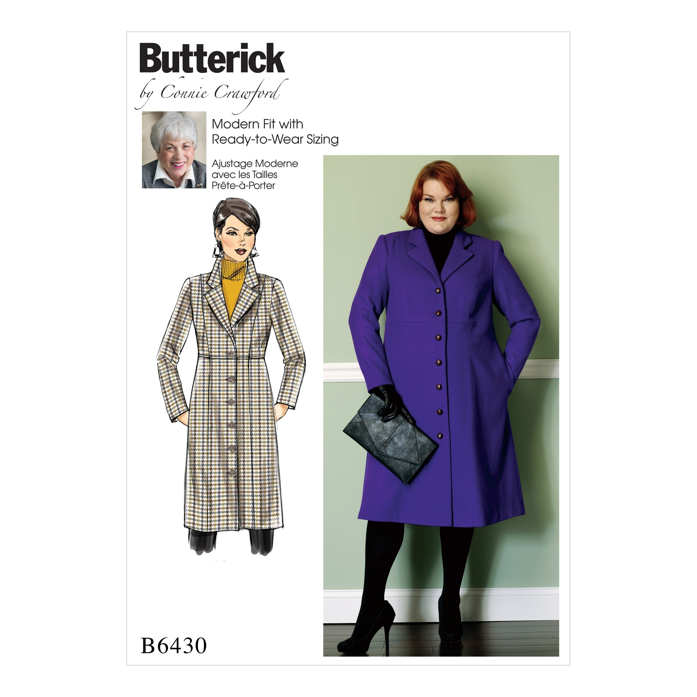 Butterick Sewing Pattern 6430 Misses' Empire Waist Coat with Princess Seams