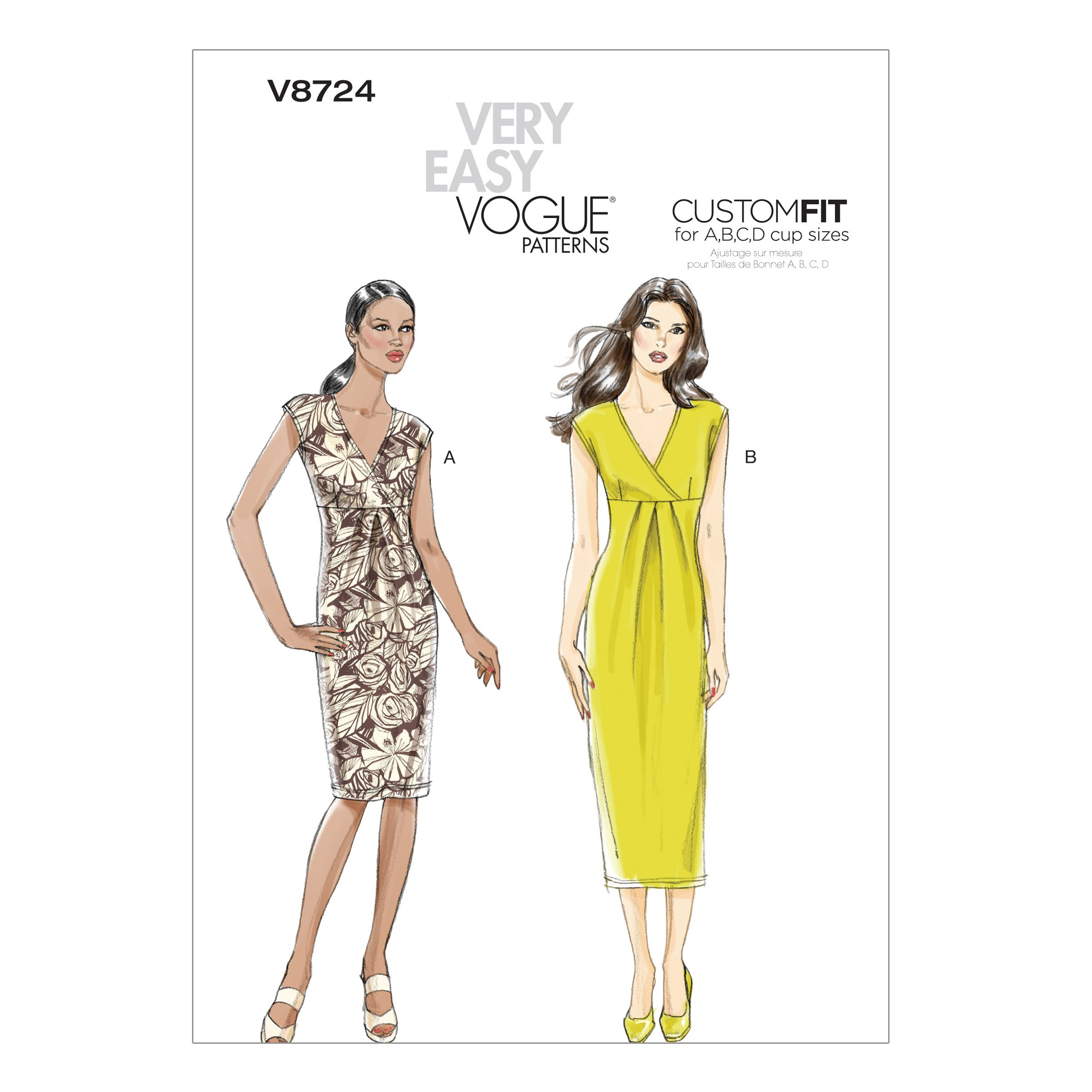 Vogue Sewing Pattern V8724 Misses' Dress