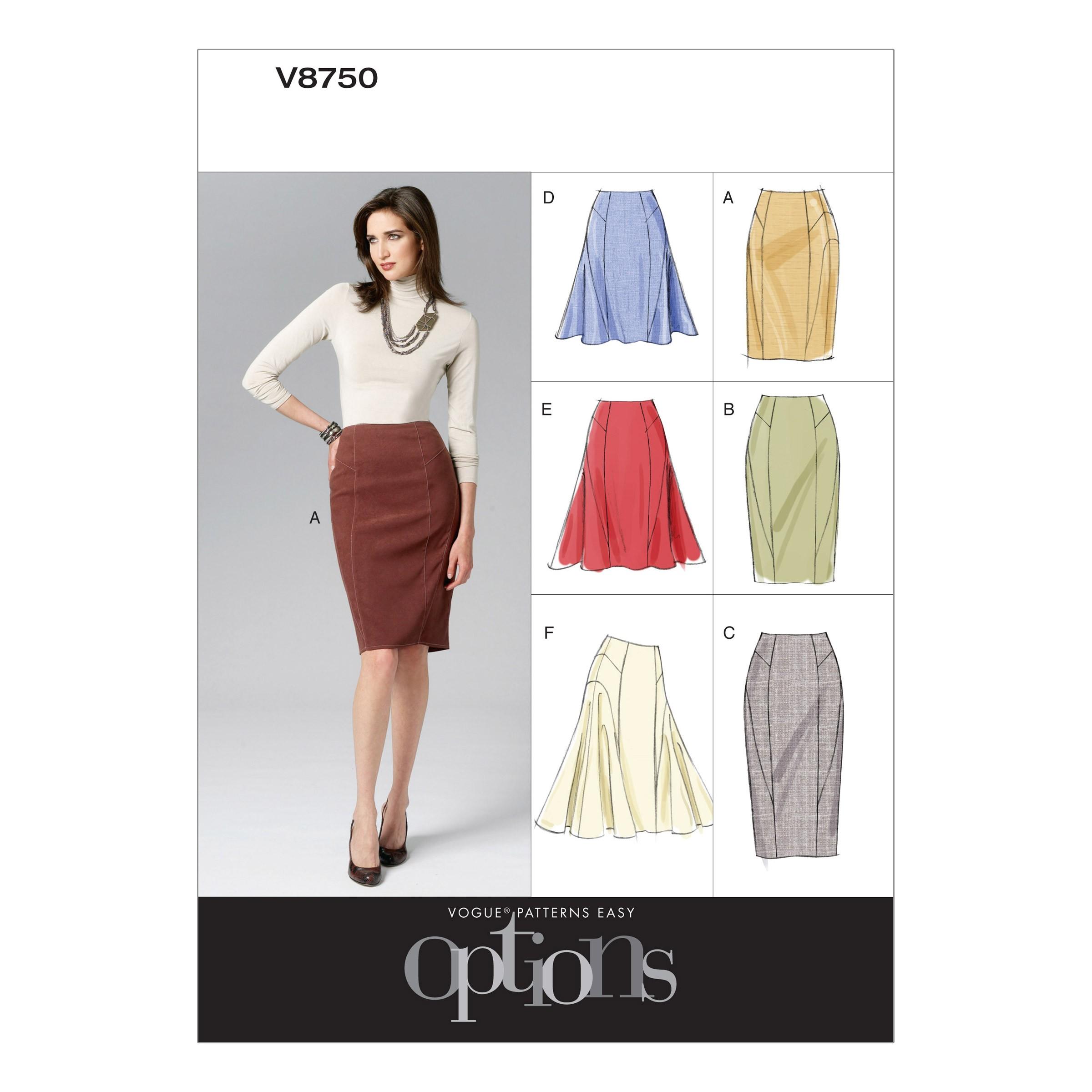 Vogue Sewing Pattern V8750 Women's Smart Skirts