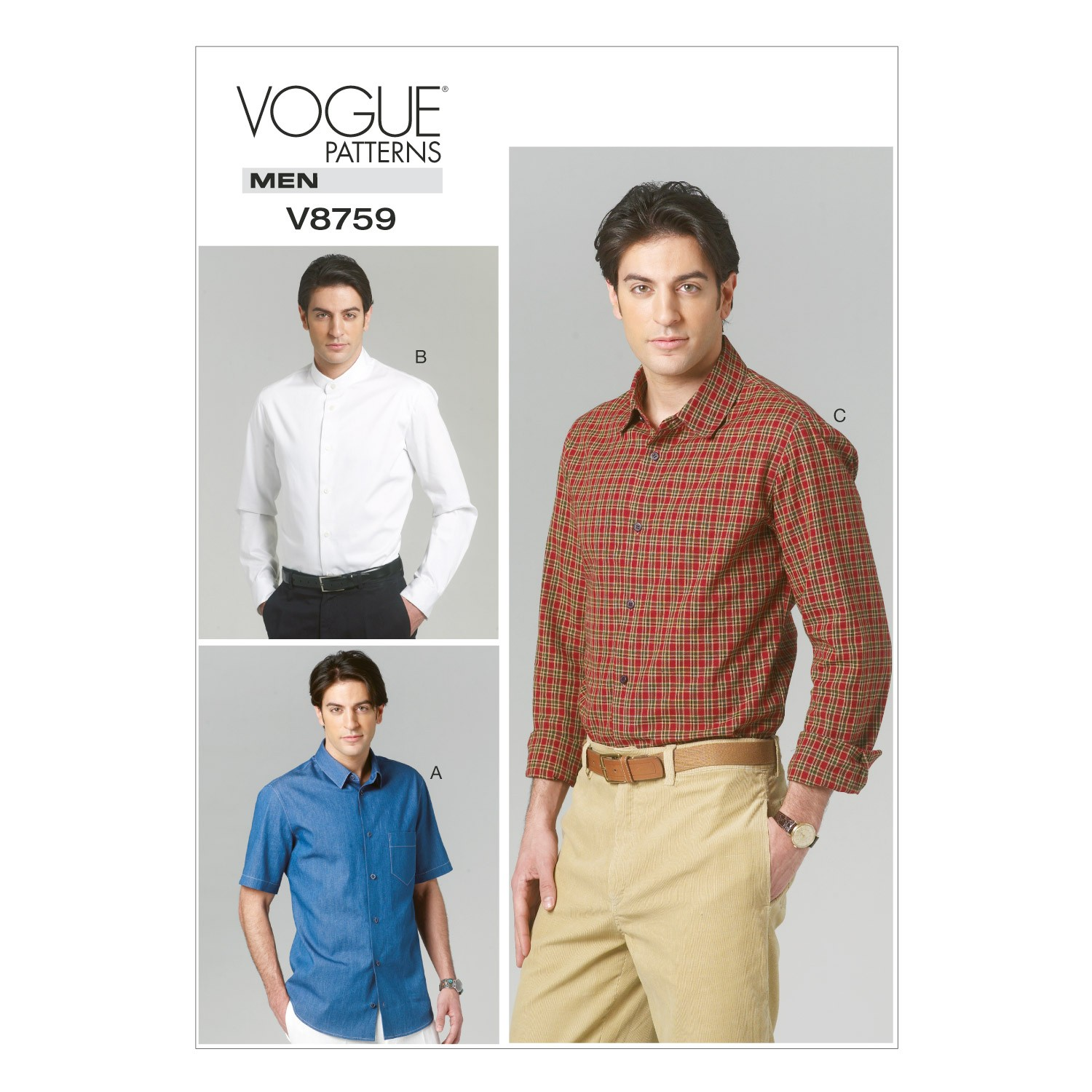 Vogue Sewing Pattern V8759 Men's Smart Casual Shirt
