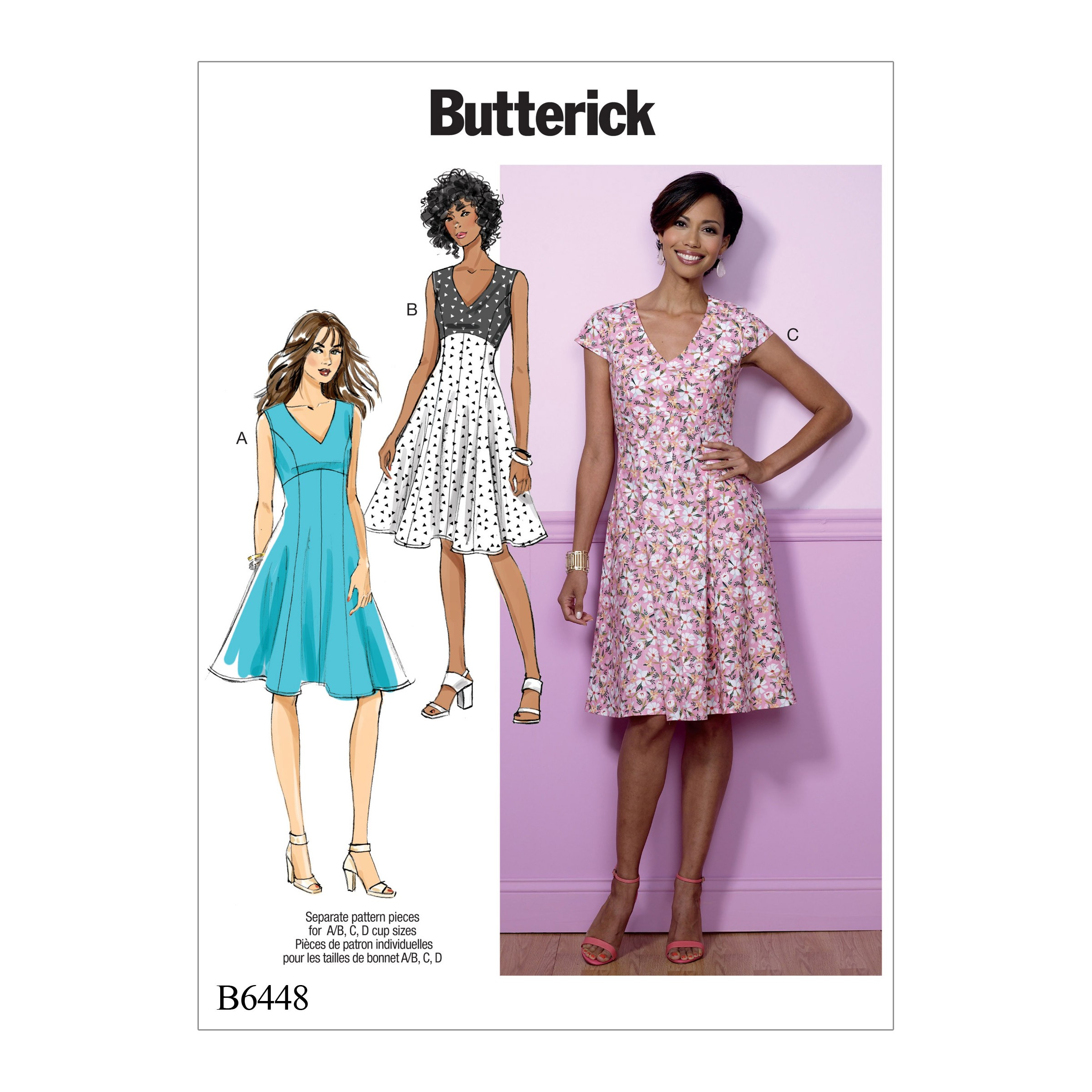 Butterick Sewing Pattern 6448 Misses' Fit & Flare Empire Waist Dress
