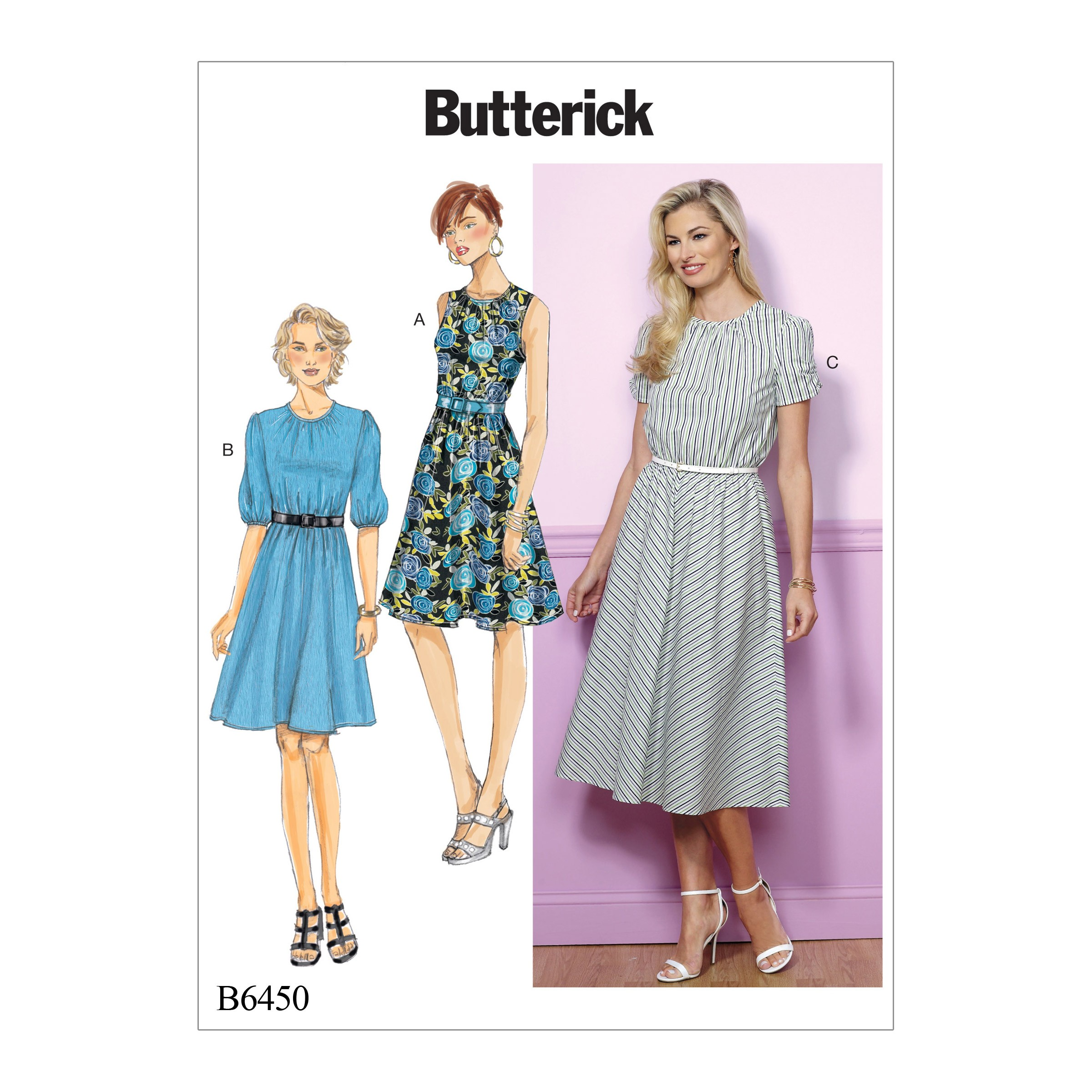 Butterick Sewing Pattern 6450 Misses' Petite Gathered Blouson Dress