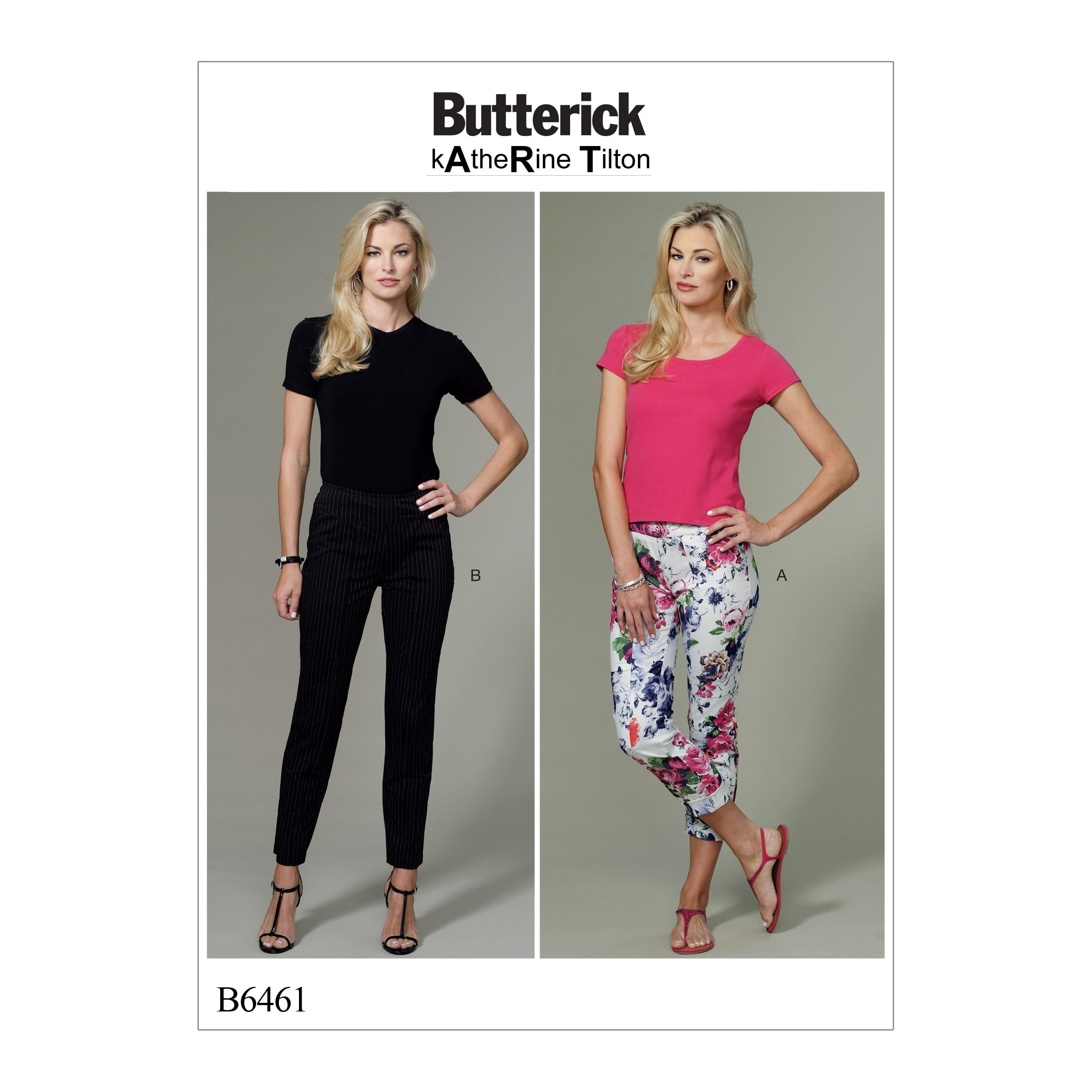 Butterick Sewing Pattern 6461 Misses' Seam-Detail Trousers