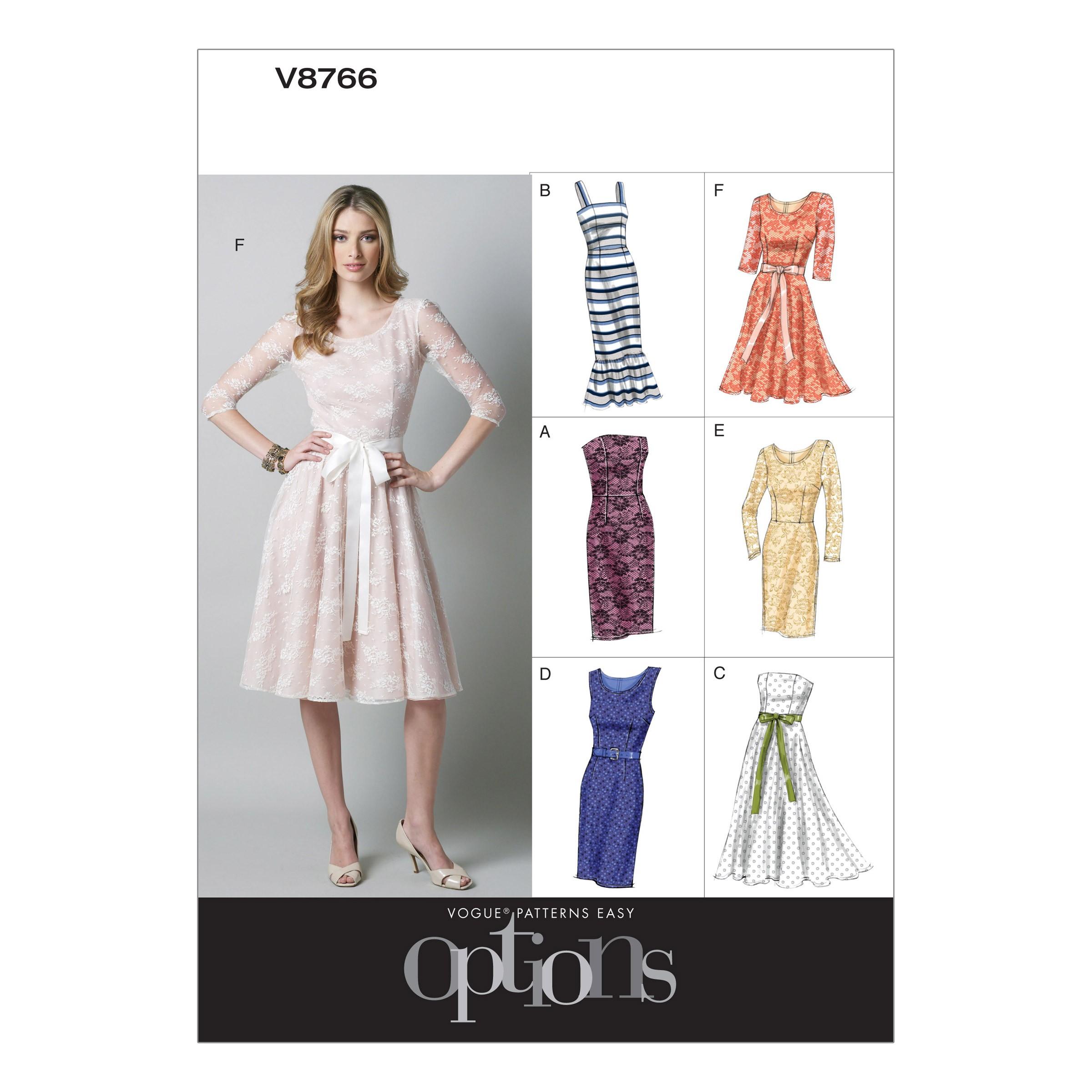 Vogue Sewing Pattern V8766 Women's Petite Dress