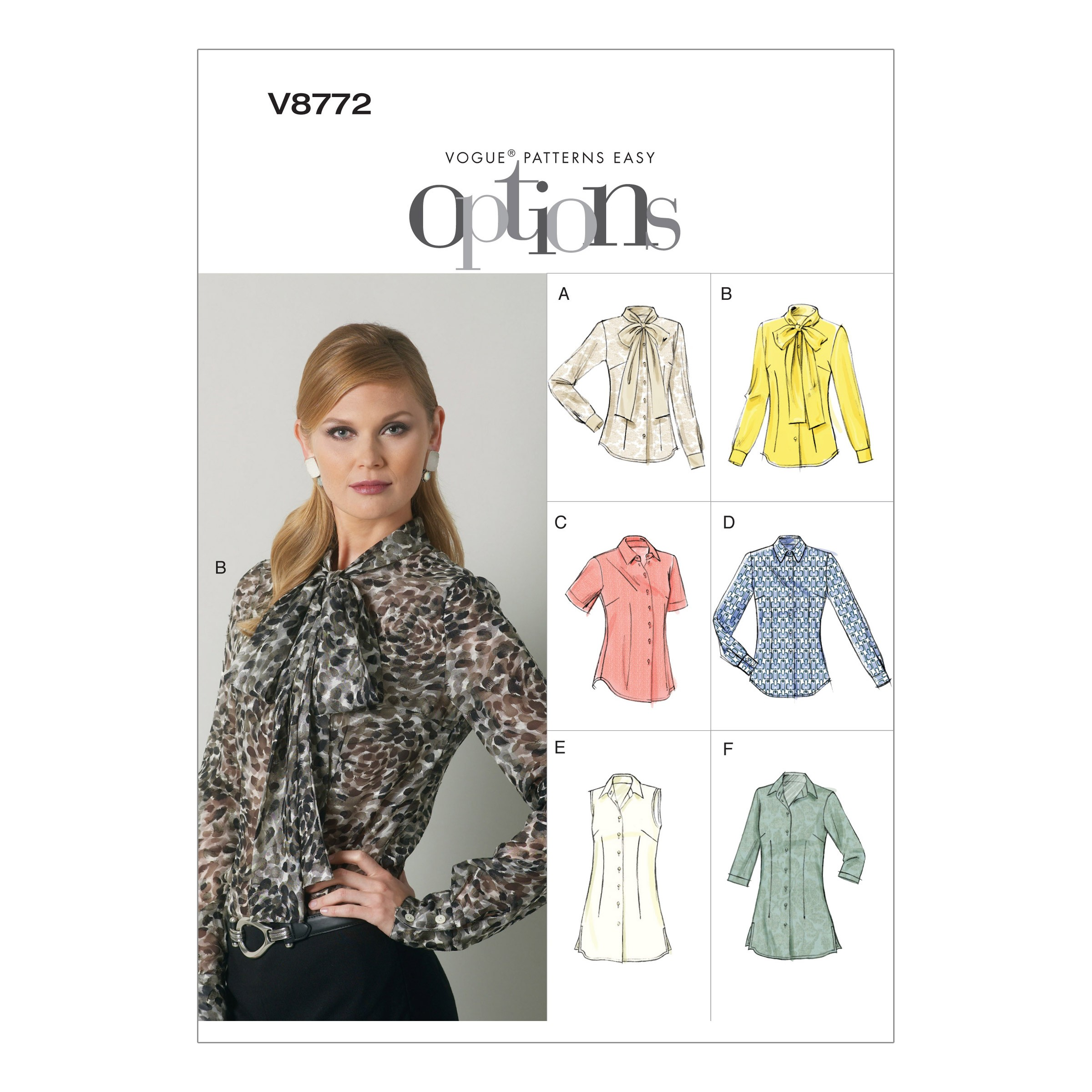 Vogue Sewing Pattern V8772 Women's Blouse Shirt