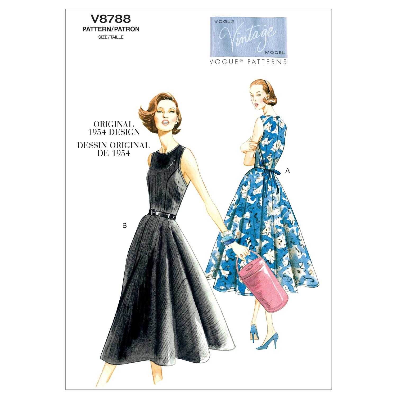 Vogue Sewing Pattern V8788 Women's Vintage Dress