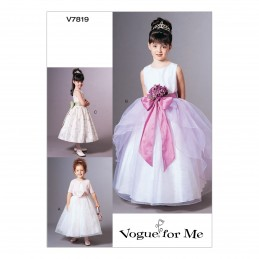 Vogue Sewing Pattern V7819 Girl's Special Occasion Dresses with Bolero