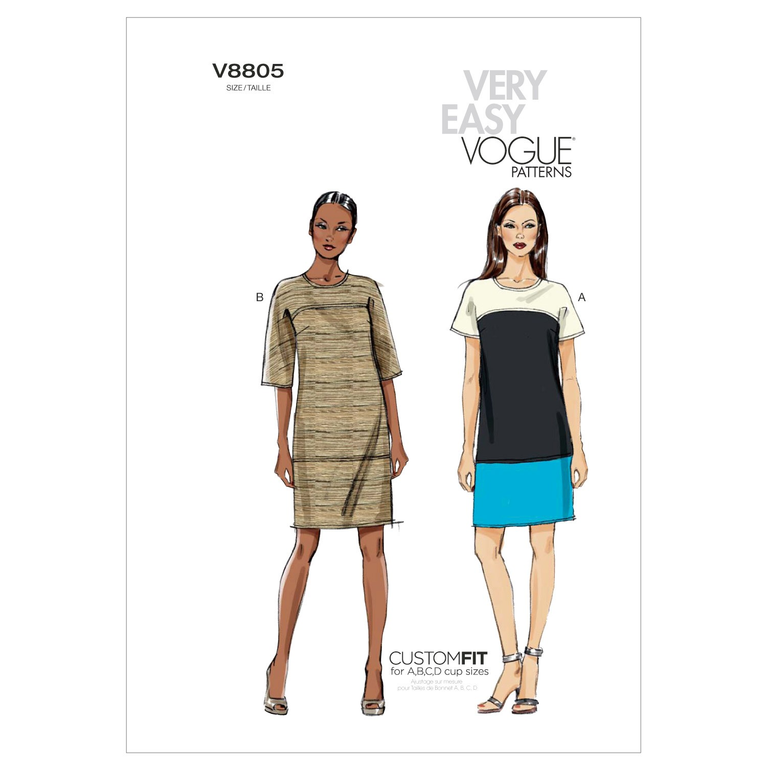 Vogue Sewing Pattern V8805 Women's Shift Dress