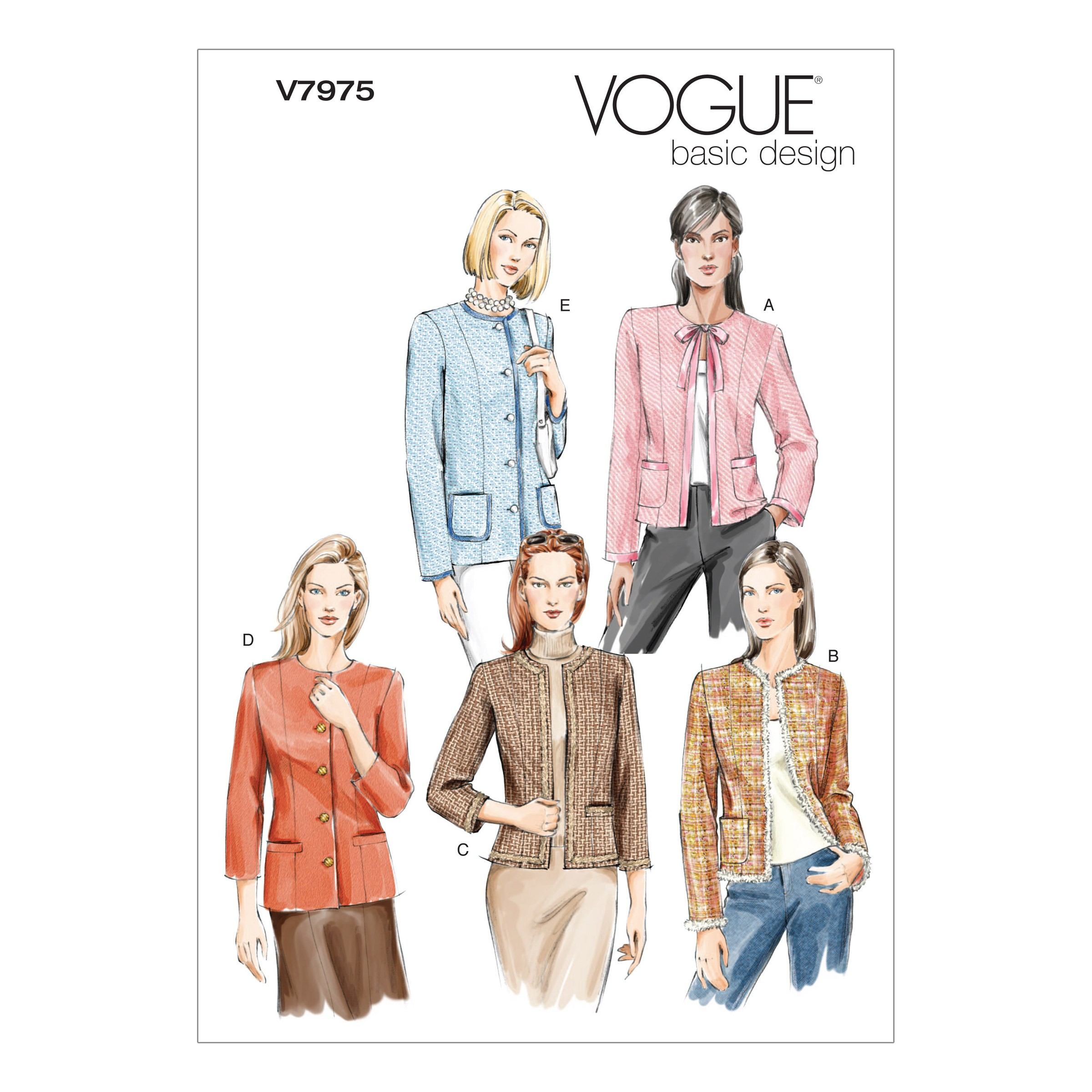 Vogue Sewing Pattern V7975 Women's Jackets Blazers with Variations