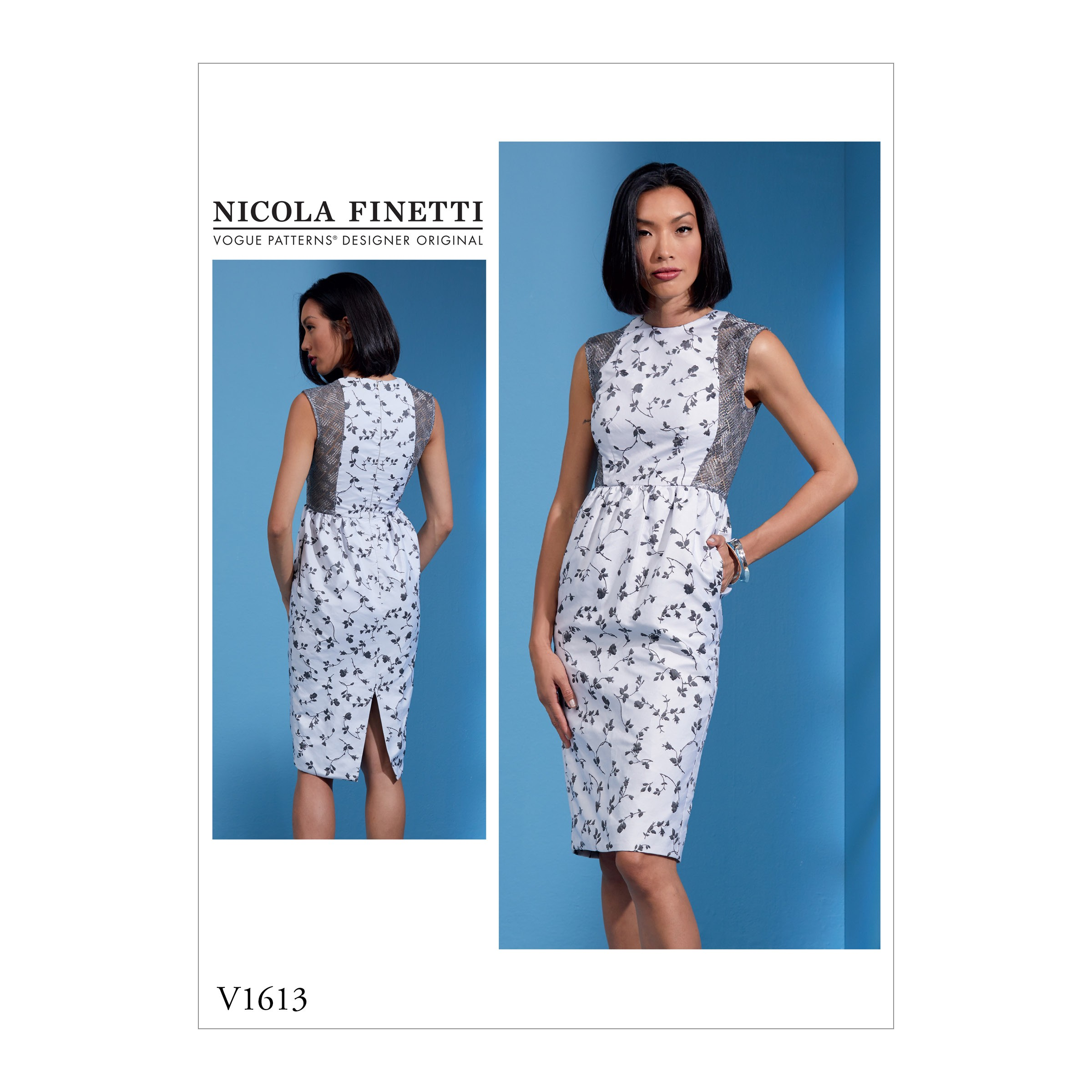 Vogue Sewing Pattern V1613 Women's Slim Dress with Contrast Sheer Panels