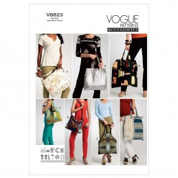 Vogue Sewing Pattern V8823 Women's Hand Bags In Various Styles