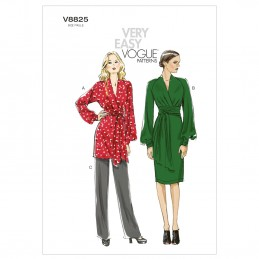 Vogue Sewing Pattern V8825 Women's Tunic Dress And Trousers