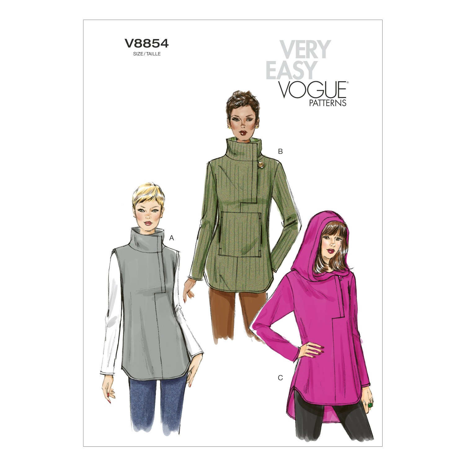 Vogue Sewing Pattern V8854 Women's Misses' Tunic
