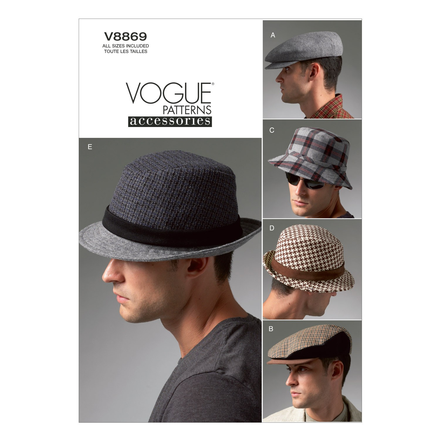 Vogue Sewing Pattern V8869 Men's Hats