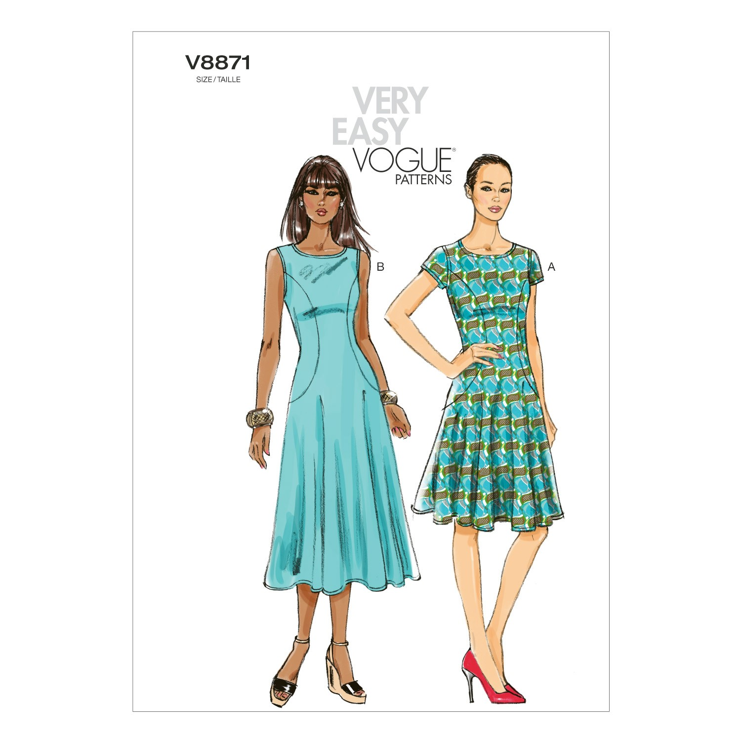 Vogue Sewing Pattern V8871 Women's Flared Dress