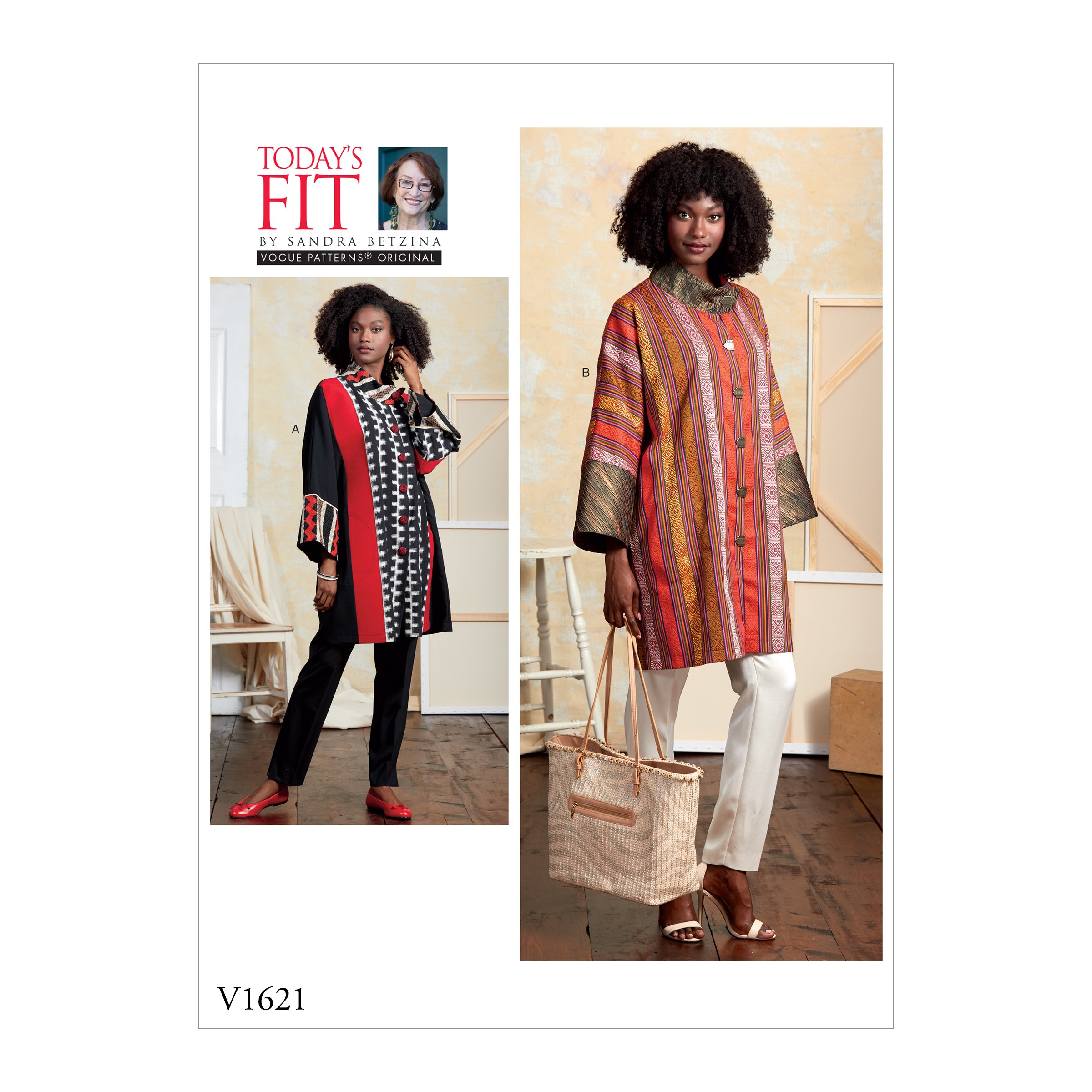 Vogue Sewing Pattern V1621 Women's Loose Fit Coat Jacket