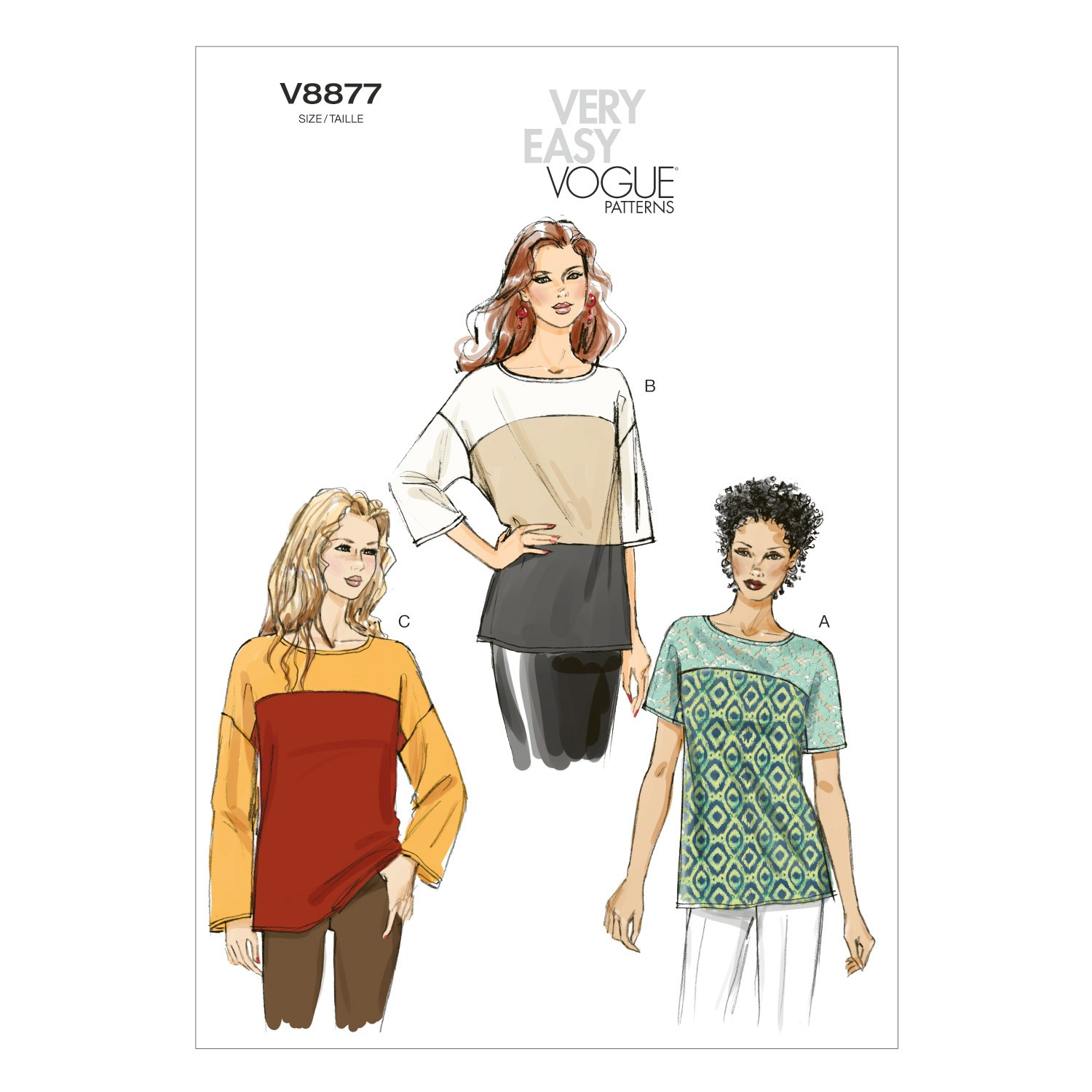 Vogue Sewing Pattern V8877 Women's Misses' Top