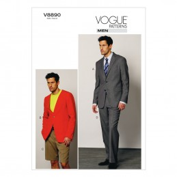 Vogue Sewing Pattern V8890 Men's Jacket Shorts And Trousers
