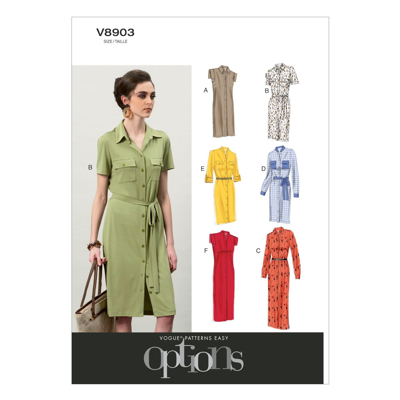 Vogue Sewing Pattern V8903 Women's Dress And Belt