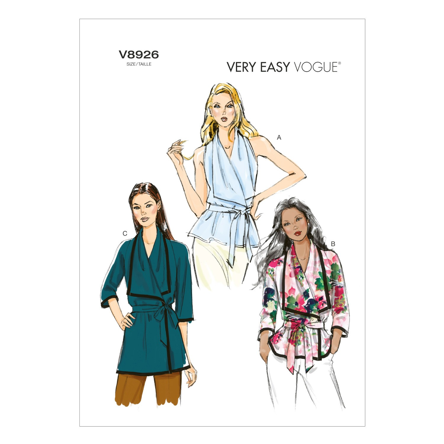 Vogue Sewing Pattern V8926 Women's Misses' Wrap Top