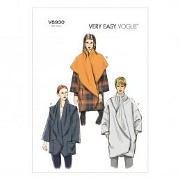 Vogue Sewing Pattern V8930 Women's Wrap Jacket Coat
